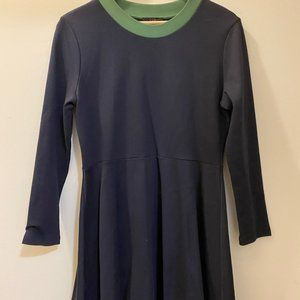 Cos Navy Blue with Green trim Dress